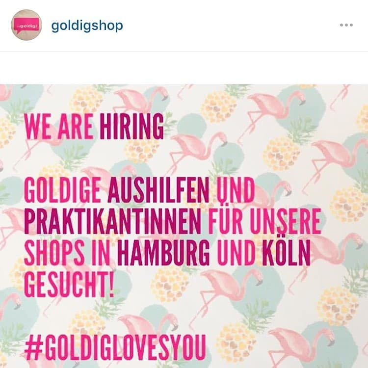 Fr meine goldigshop s in Hamburg amp Berlin suchen wirhellip