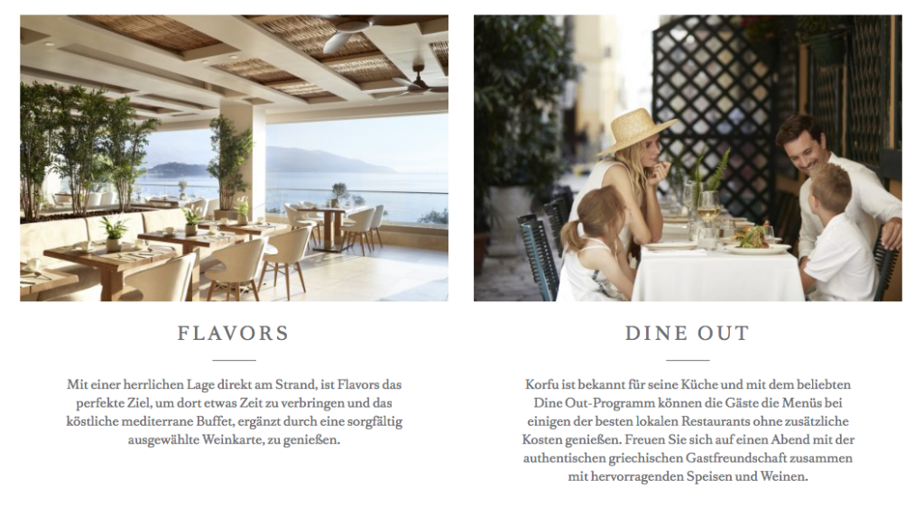 Restaurant und dine around Ikos
