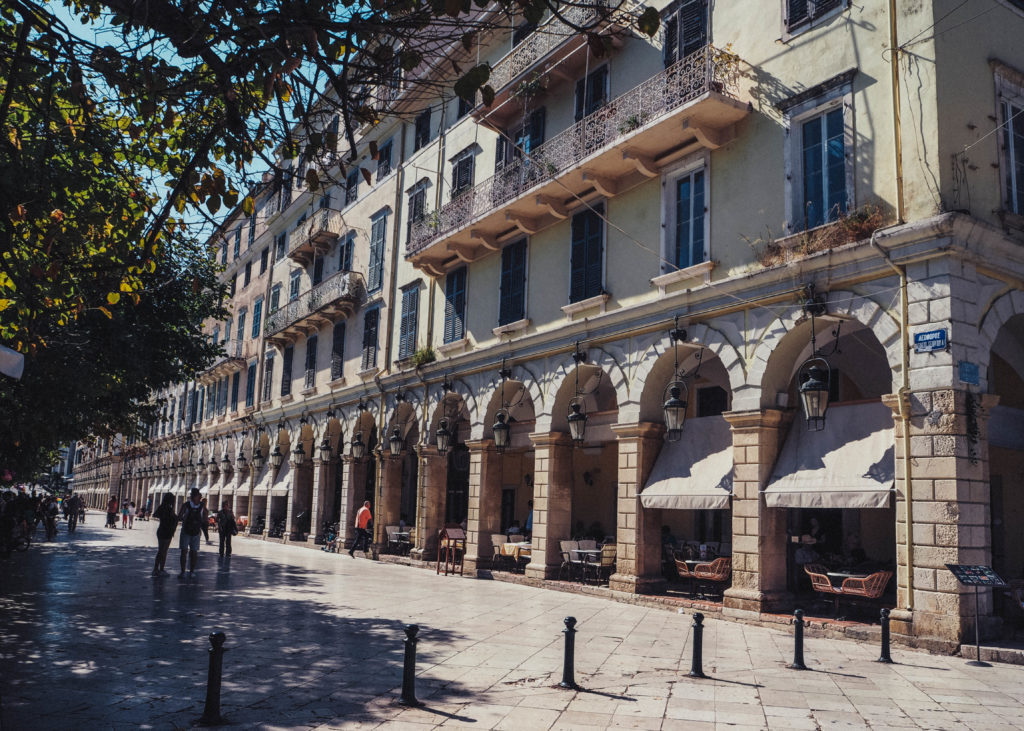 Korfu stadt ikos